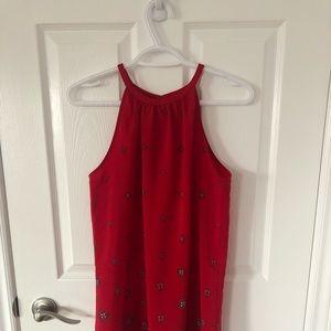 Old Navy red halter dress